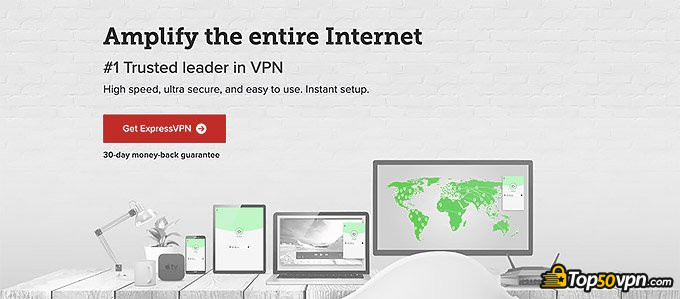 ExpressVPN review: front page.
