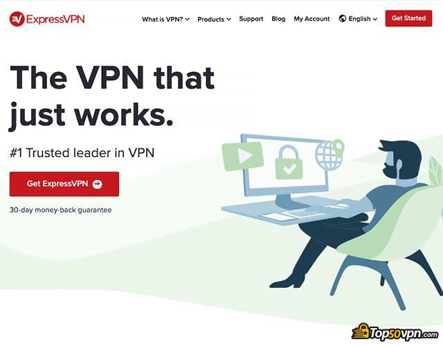 ExpressVPN review: ExpressVPN home page.