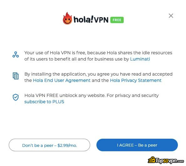 Hola VPN review: terms of service.