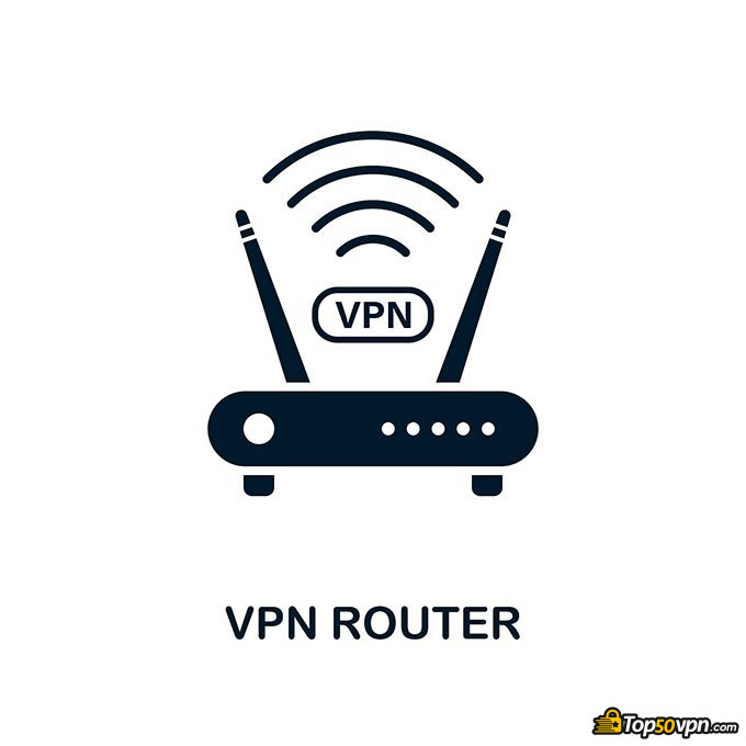 How to set up VPN on router: VPN and router logo.