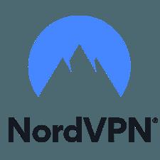 NordVPN review: a small NordVPN logo.