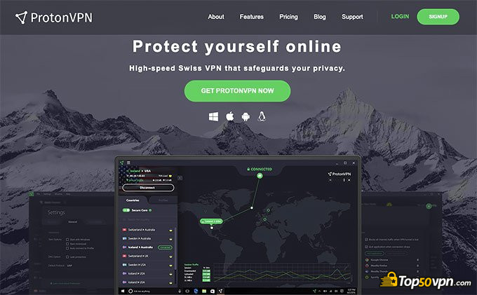 ProtonVPN review: ProtonVPN homepage number two.